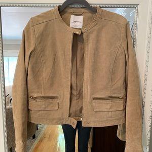 Genuine Leather Jacket by Mango